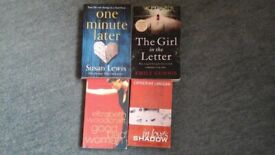 4 paperback books by various authors. Genre: Crime/Thriller/Mystery