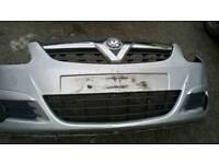 Vauxhall corsa 56 front bumper silver