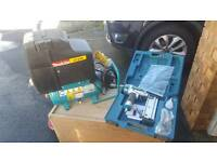 Air compressor and gun and hose
