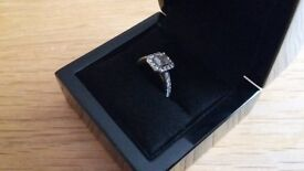 1.60ct Diamond Engagement Ring Platinum (950) Size K. F colour VVS1 Clarity