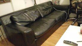 Sofa bed ,habitat real leather