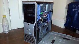 DELL PRECISION 490 / 8 CORE / 12GB RAM / 750W PSU (SPARES / REPAIRS)