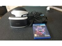PlayStation VR hardly used plus PlayStation VR world's game