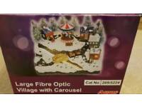 Large fibre optic village with carousel