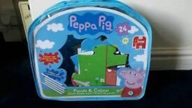Brand new peppa pig jumbo coloring in jigsaw