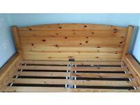 Dokka ikea pine double bed