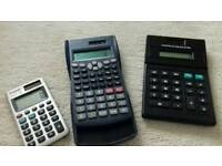 Calculators unused