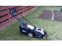 Garden equipment set - lawnmower & strimmer together