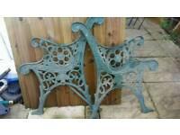 Vintage, Cast iron bench ends