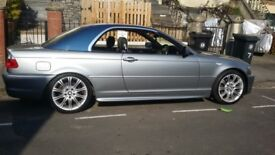 bmw 320cd convertible m sport 2dr 2006 with hard top with service history full servicing last week