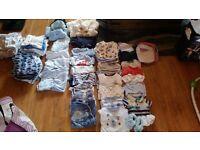 Newborn clothing bundle.