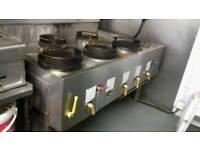Chinese wok cooker 5 burner