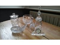 selection if cut glass items in excellent condition