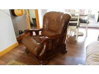 Vintage Leather Armchair and Sofa