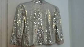 Sparkly Nude Jacket Size 8 worn once.