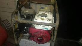 Honda generator and hedge trimmer