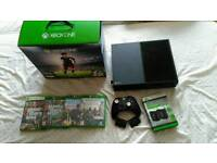 Xbox one 500GB **MATTE BLACK** WITH GAMES AND BATTERY PACK
