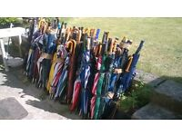 House Clearance/ Job Lot 350 mostly Golfing Umbrellas