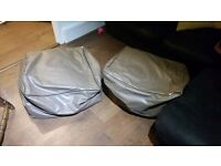 Two Square Beanbag/Puff Seats in good condition with extra filling for free.