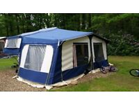 For sale our much loved 6 berth Pennine Sterling folding camper with full awning and extras.