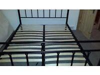 Black metallic king size bed bed frame