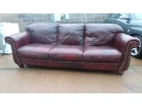Real Leather chesterfield style sofa can deliver 07989088223