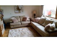 3+2 seater fabric sofa excellent condition