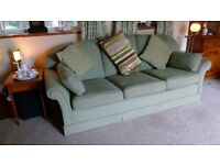 Quality used hardwood frame 3 seater sofa- very good condition, professional upholsterer made