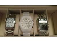 Armani watch x3