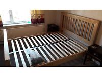 Kingsize wooden bed frame for sale