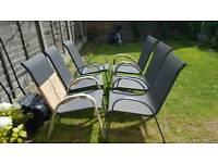 6 x Garden chairs new