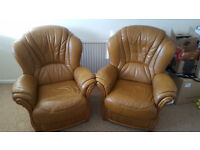 Leathers armchairs