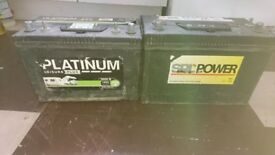 2 large electric hook up batteries