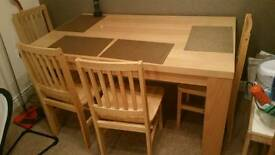 Ikea dinning table and chairs