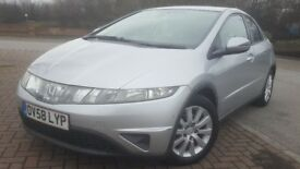 2008 HONDA CIVIC SE I-CTDI - FULL HONDA SERVICE HISTORY - 2 PREVIOUS OWNERS