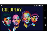 2x standing Coldplay tickets for Cardiff