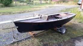 13 foot boat with trailer