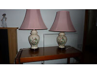 Ginger jar lamps with shades