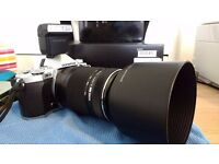 olympus om-d e-m5 mark ii silver + Olympus ED 70-300mm II Lens