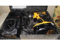 DeWalt 18v Cordless Hammer Drill Driver with two batteries