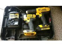 Dewalt 18v combi drill and imact driver set