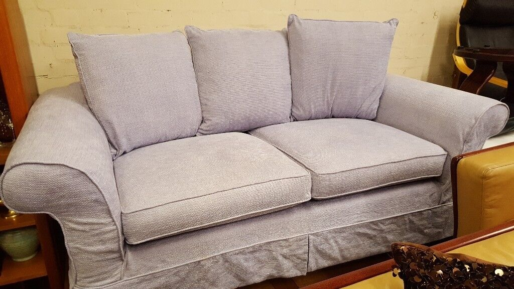 Laura Ashley 2 Seater Sofa Lilac Fabric Loose Covers