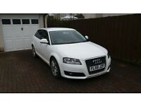 Audi A3 TDI e Sportback, White, 2009, FSH, 1 Previous owner, MOT'd.
