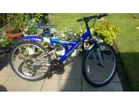 Mountain bike 26inch wheels new tyres and inner tubes shimano twist grip 18 gears
