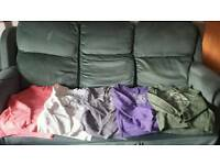 5 womens hoodies size S/M