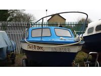 Mariner 16 Fishing boat. 35hp Johnson with Seagull backup