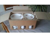"Staffordshire Hand Decorated ""Sweet Briar"" Fine Bone China Teaset"
