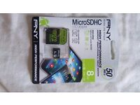 PNY memory card is micro SD 8gb