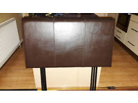Pair of Faux Leather Headboards for single beds