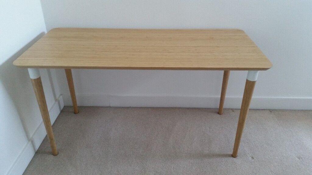 Ikea hilver bamboo desk table in twickenham london gumtree